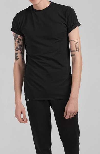 Total Black Expose T-Shirt - Black
