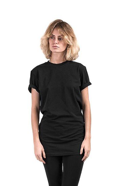 Total Black Expose T-Shirt | Casual Tops | ETTO Boutique