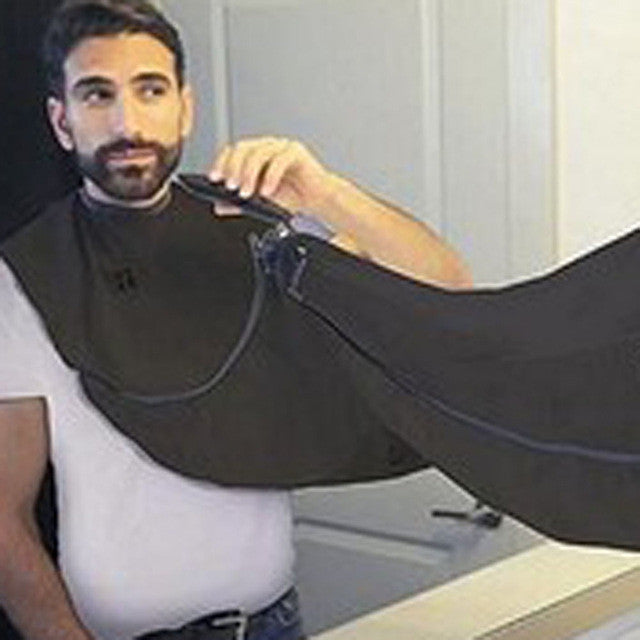 New Man Pongee Beard Care Shave Apron Bib Trimmer Facial Hair Cape Sink Black Shaving Clean Tool Household Cleaning Protection