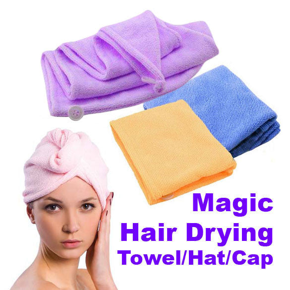 Magic Quick-Dry Hair Towel Hair-drying Ponytail Holder Cap Towel Lady N Microfiber Hair Towel (Random Color )