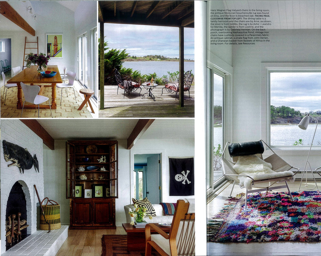 Elle Decor October 2016 - Ashe + Leandro - Leao Honey Merida rug