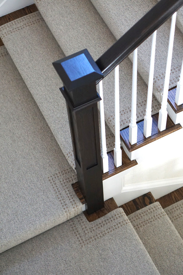 Choose Or Customize A Rug With Details That Compliment The Staircase Form  And Shape. A Little Detail Goes A Long Way, As Can Be Seen In This Custom  Harris ...