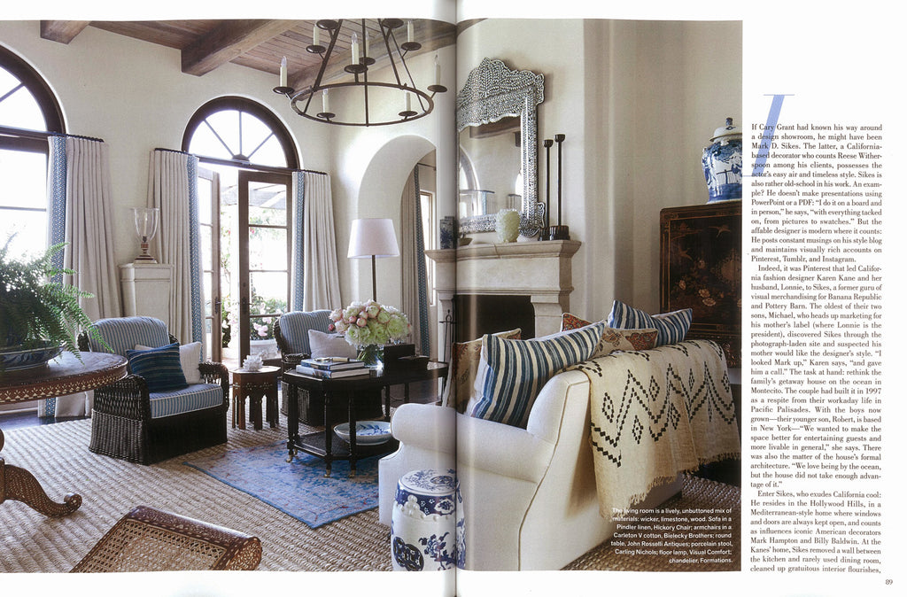 Vernada July 2016 - Mark D. Sikes - Abaca rugs