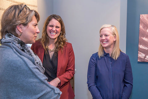 Designer Heather Wells With Siobhan Kelley And Merida CEO Catherine Connolly