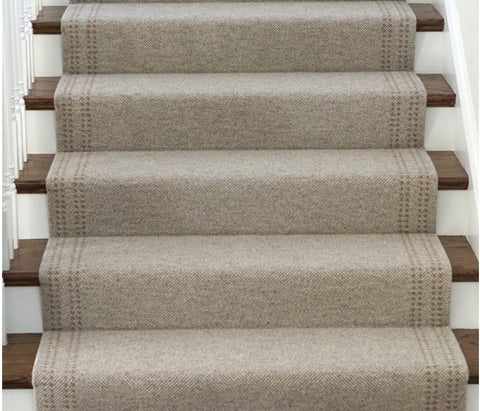 Stair installation, Heywood stitch pattern