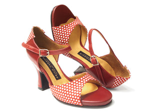 Rumba. Arika Nerguiz Dance Sandal Shoes. Broadway Theatrical Shoes.