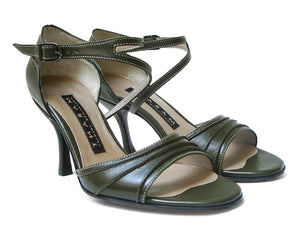 Celina. Arika Nerguiz Tango Dance Sandal Shoes. Broadway Theatrical Shoes.