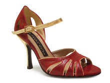 Gala. Arika Nerguiz Tango Dance Sandal Shoes. Broadway Theatrical Shoes.