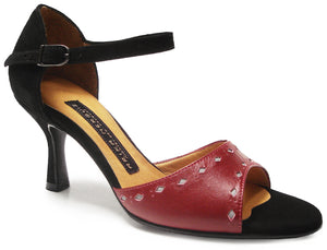 Veni. Arika Nerguiz Tango Dance Sandal Shoes. Broadway Theatrical Shoes.