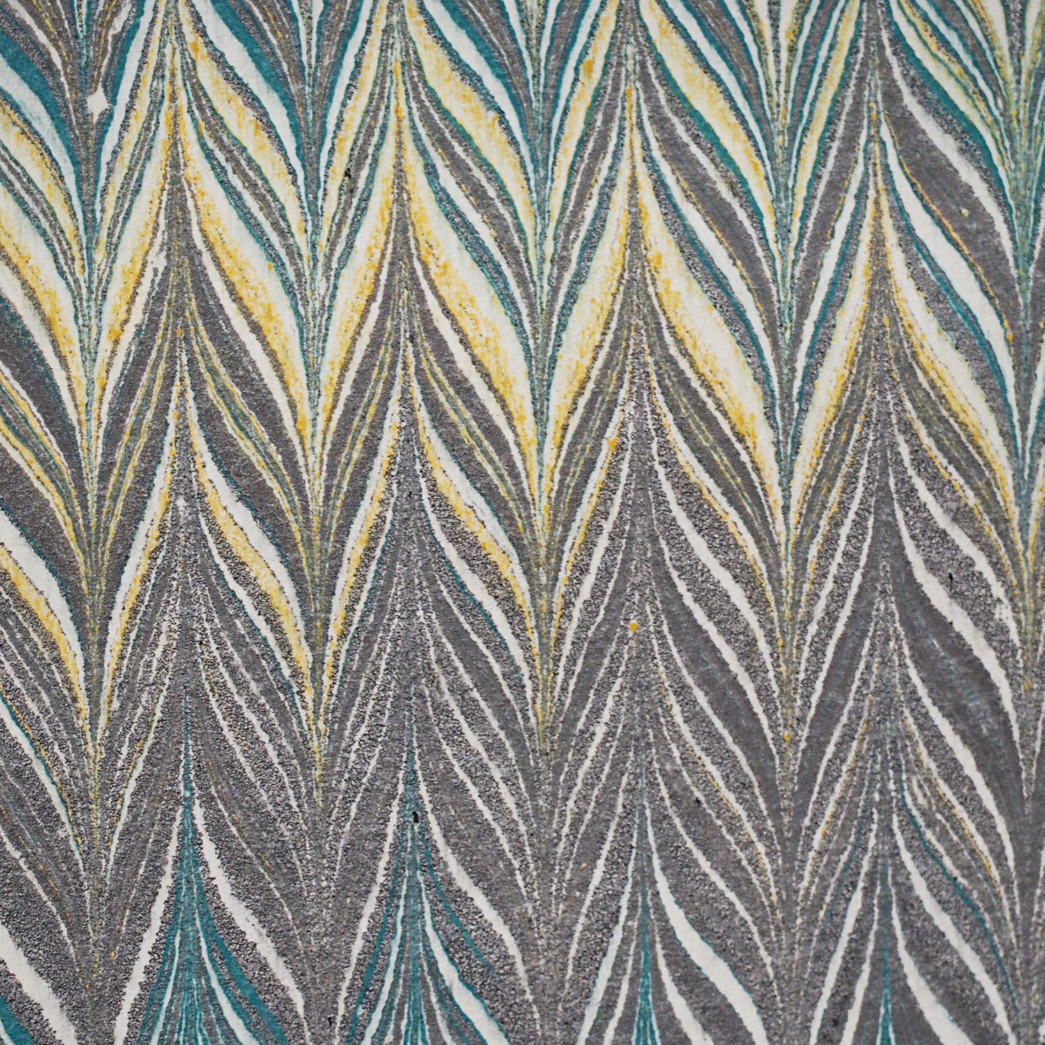 Marbled paper / Green
