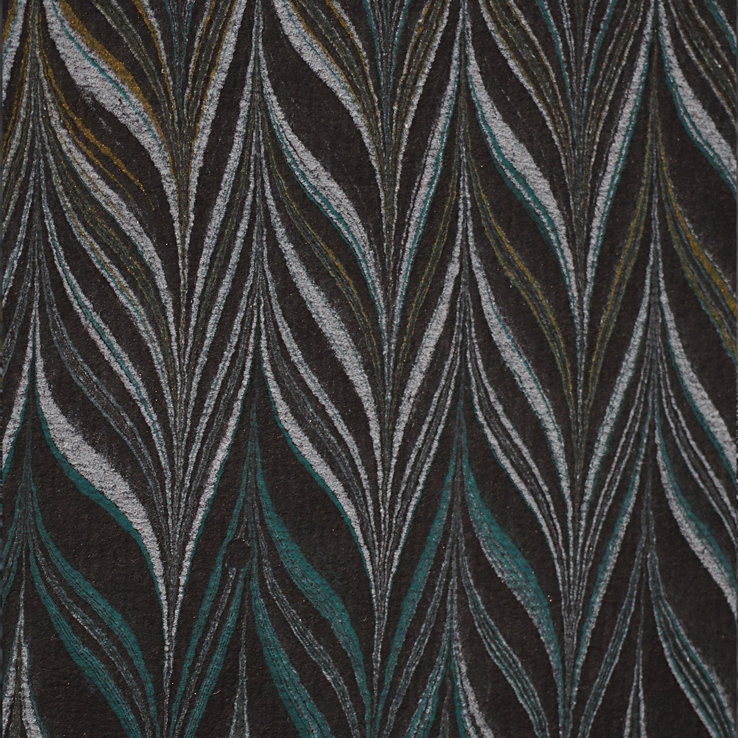 Marbled paper / Black