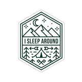 I Sleep Around Funny Camping Sticker, Funny Camping Gift, Camping Stickers - Roam Free