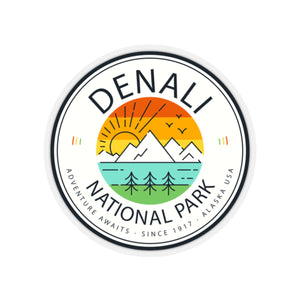 Denali National Park Retro Vintage Sticker - Roam Free