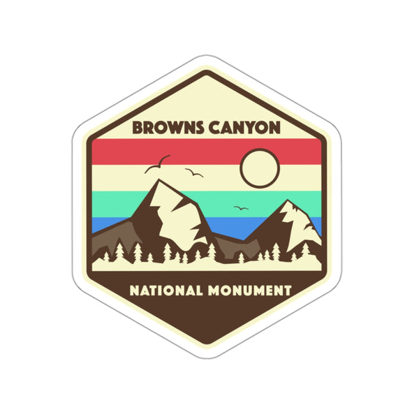 Browns Canyon National Monument Sticker, National Monument Stickers, National Monument Gifts - Roam Free