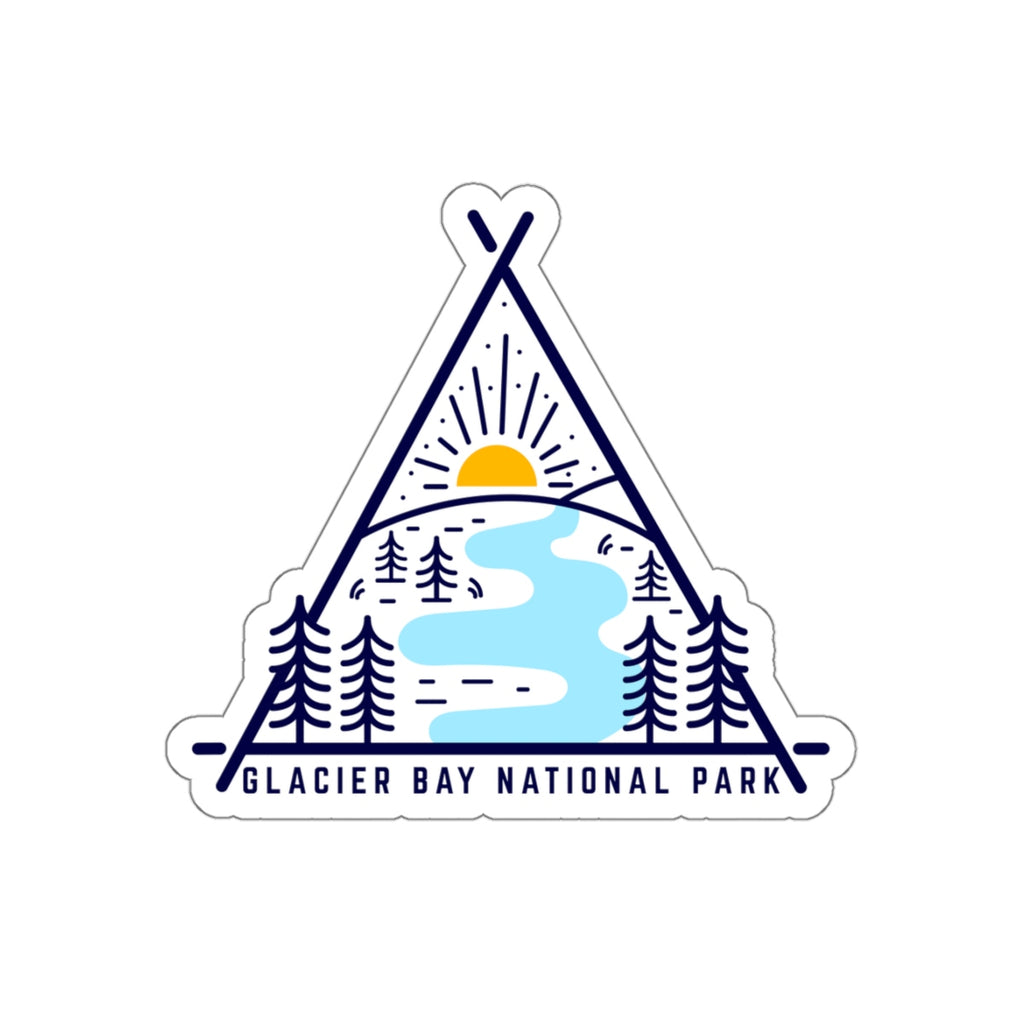 Glacier Bay National Park Sticker, Glacier Bay National Park Gift, National Park Sticker, National Park Gift - Roam Free
