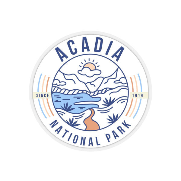 Acadia National Park Sticker - Roam Free