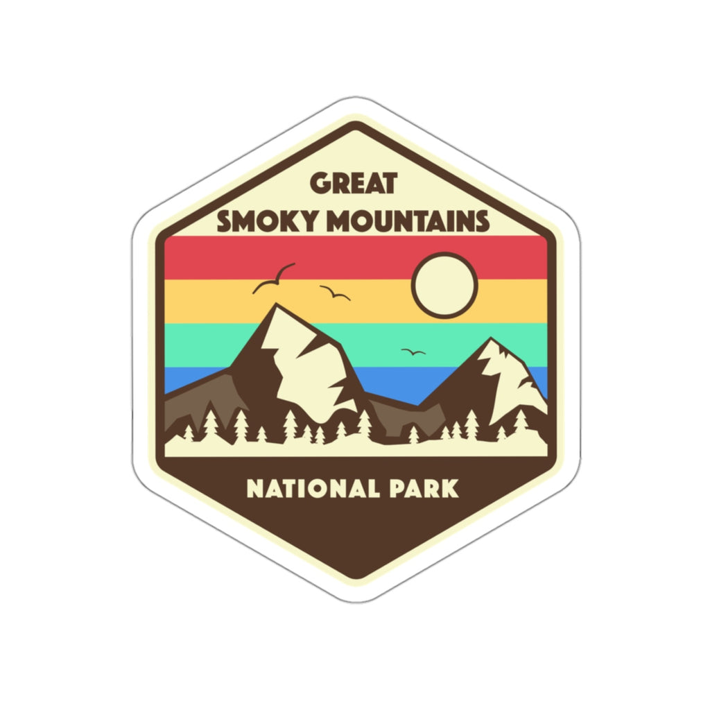 Great Smoky Mountains National Park Sticker, Smoky Mountains Sticker, National Park Sticker, National Park Gift - Roam Free