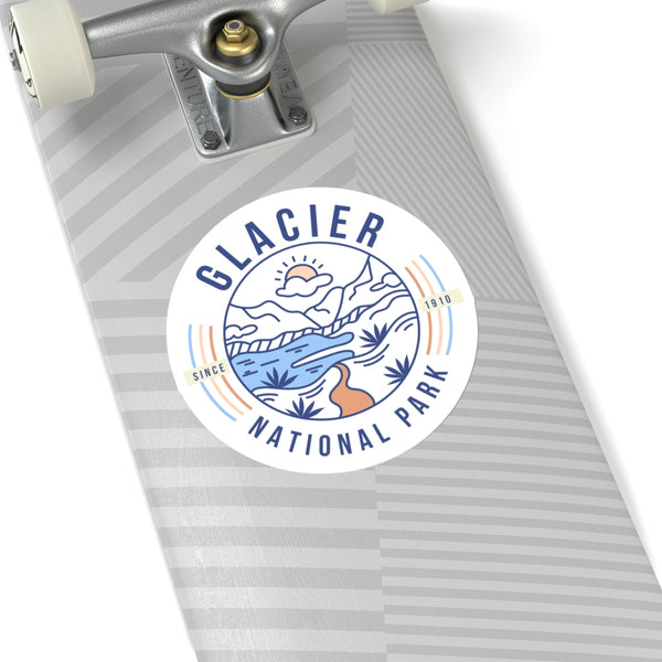 Glacier National Park Sticker, Glacier National Park Gift, National Park Sticker, National Park Gift - Roam Free