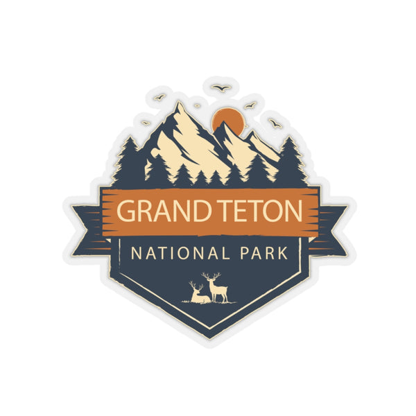 Grand Teton National Park Sticker, Grand Teton Sticker, Grand Teton Gift, National Park, National Park Stickers, National Park Gifts - Roam Free