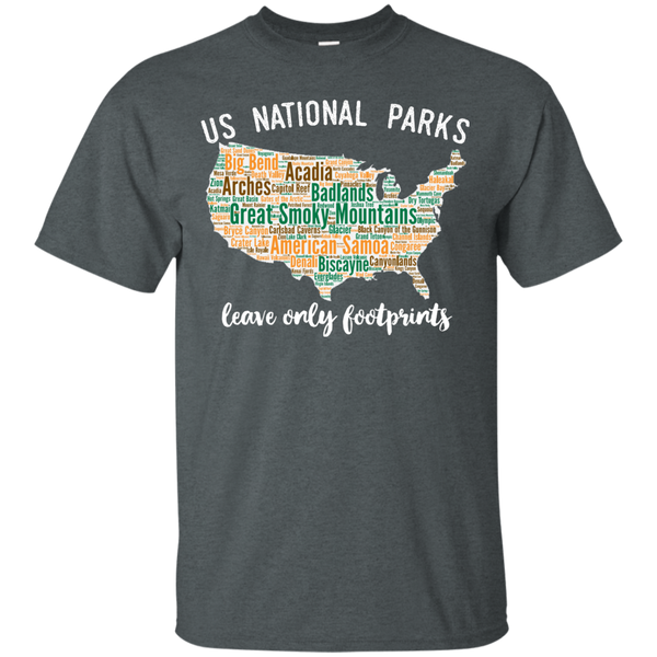 National Park T Shirt Lists All 59 National Parks S-5XL - Roam Free