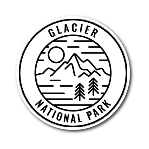 Glacier National Park Sticker - Roam Free