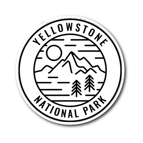 Yellowstone National Park Sticker - Roam Free