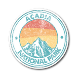 Acadia National Park Retro Sticker - Roam Free