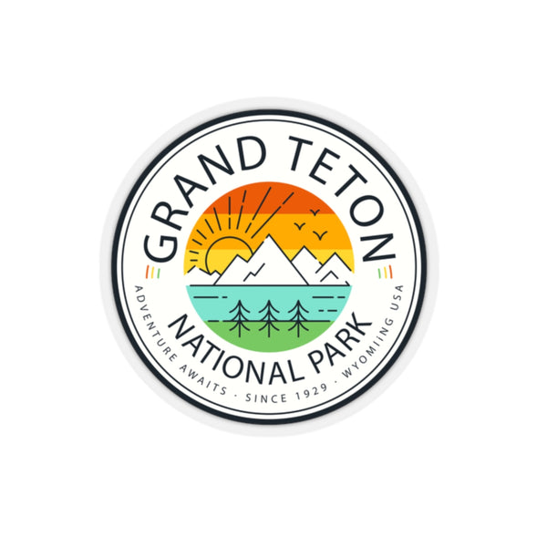 Grand Teton National Park Sticker - Roam Free