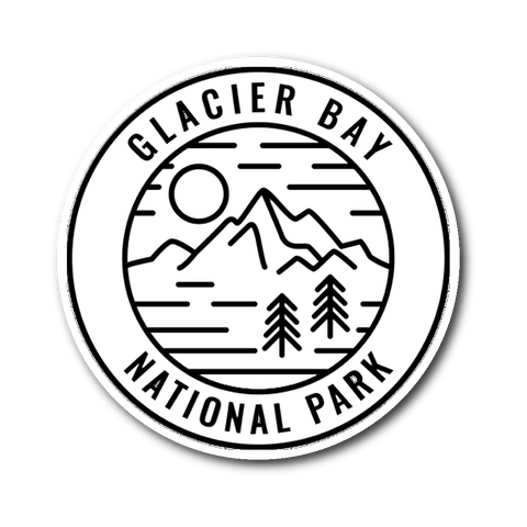 Glacier Bay National Park Sticker - Roam Free