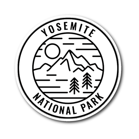 Yosemite National Park Sticker - Roam Free