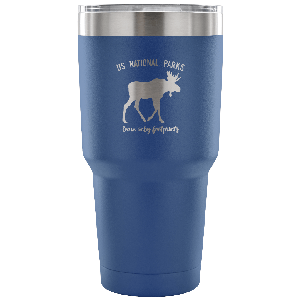 National Parks Moose Vacuum Insulated Tumbler National Park Gift - Roam Free