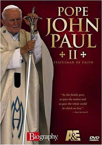 Pape Jean-Paul II: homme d'État de la foi (biographie) DVD Movie