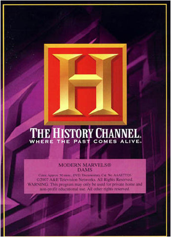 Modern Marvels - Dams (The History Channel) DVD Movie
