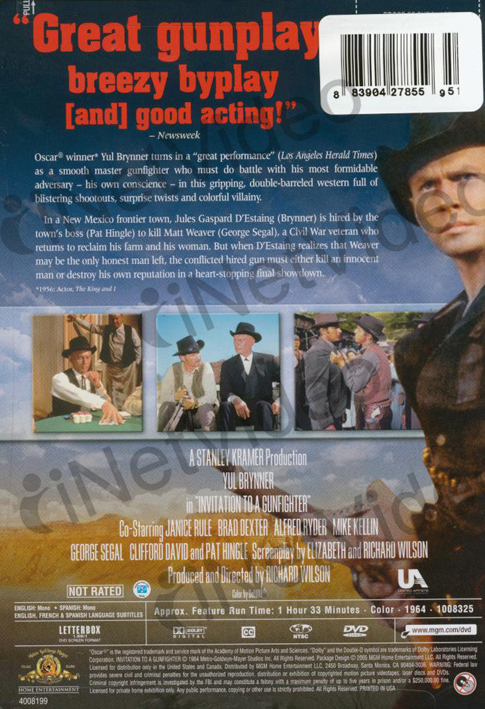 Invitation to a gunfighter letterbox mgm on dvd movie invitation to a gunfighter letterbox mgm dvd movie stopboris Image collections
