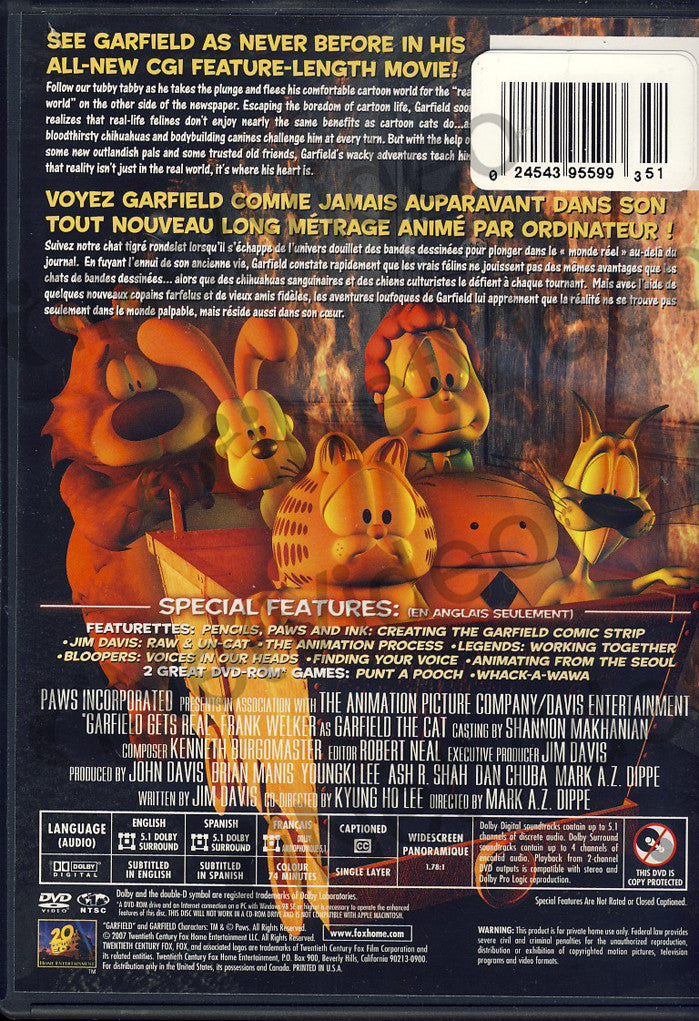 Garfield Gets Real On Dvd Movie