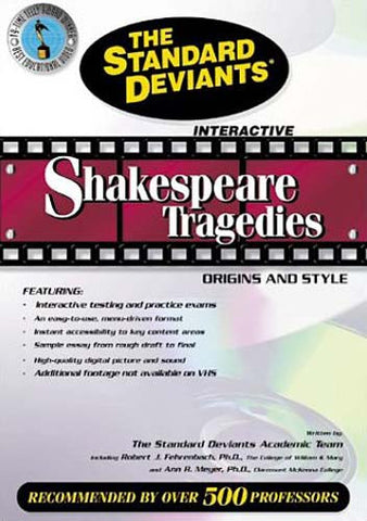 Déviants standard - Tragédies de Shakespeare - Origines et style DVD Film