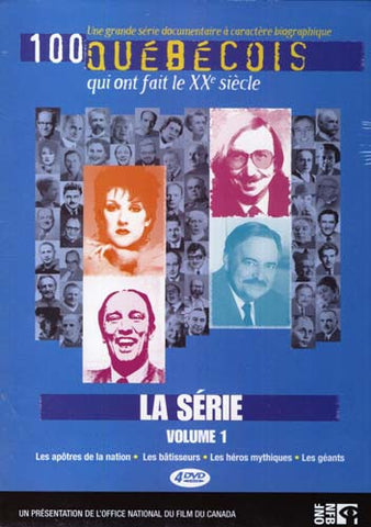 100 Quebecois - Qui Ont Fait Le XXe Siecle - La Serie - Volume 1 (Boxset) DVD Movie
