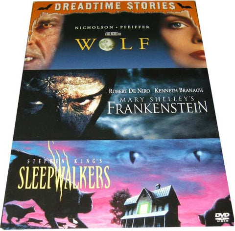 Wolf, Mary Shelley s Frankenstein, Stephen King s Sleepwalkers (Dreadtime Stories) (Boxset) Film DVD