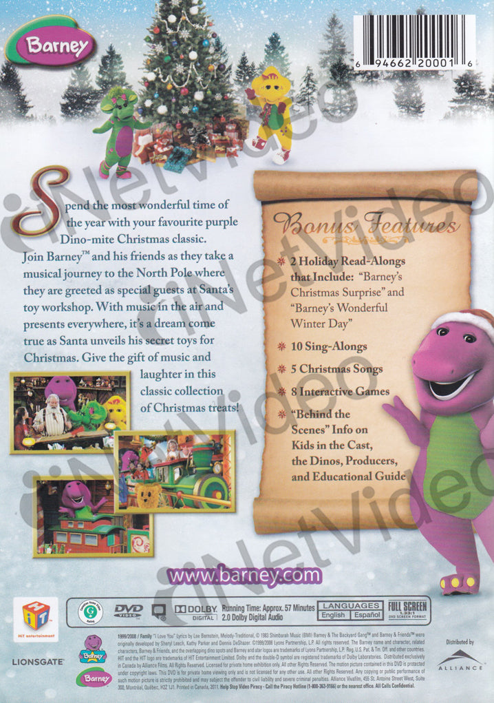 Barney - Night Before Christmas - The Movie on DVD Movie