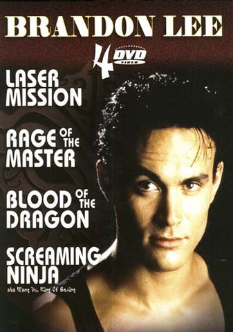 Brandon Lee - Laser Mission/Rage Of The Master/Screaming Ninja/Blood Of The Dragon (Boxset) DVD Movie