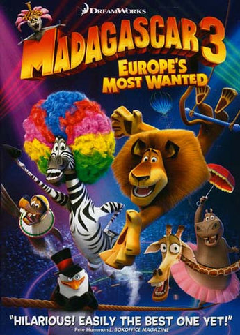 Madagascar 3 Europe's Most Wanted DVD Movie