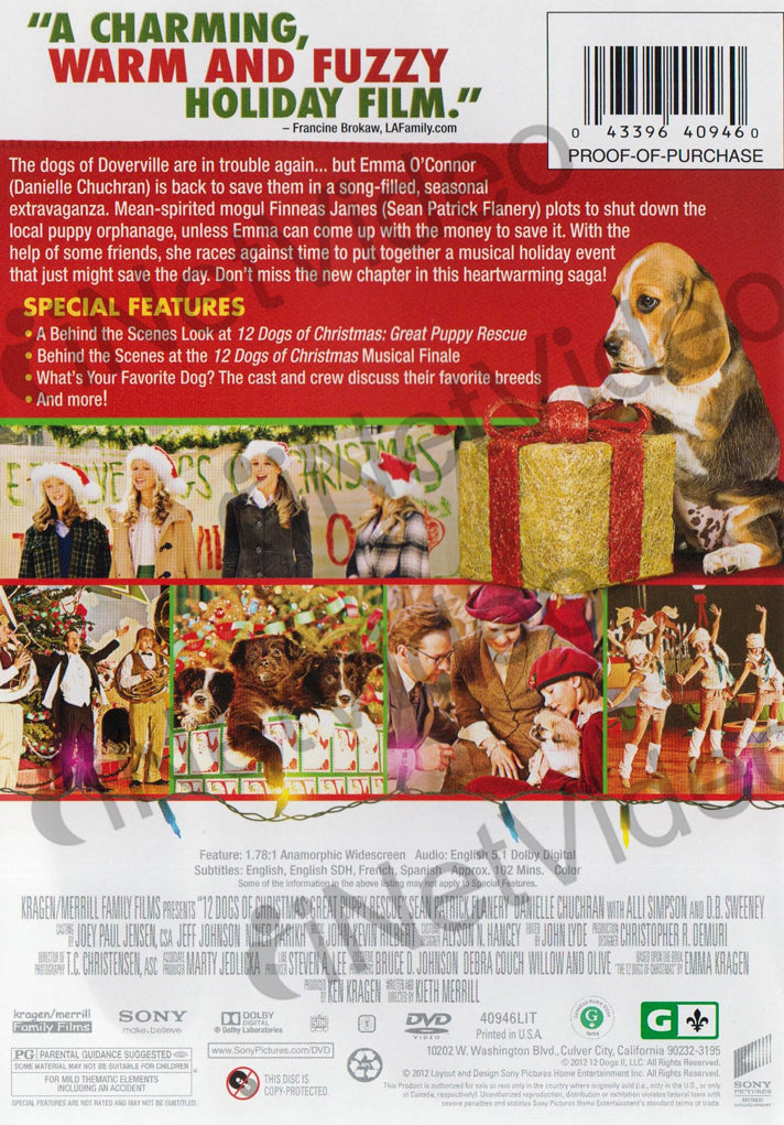 12 Dogs Of Christmas.12 Dogs Of Christmas Great Puppy Rescue On Dvd Movie
