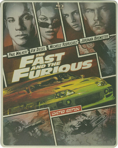 The Fast and the Furious (Steelbook) (Blu-ray + DVD + Digital Copy) (Blu-ray) BLU-RAY Movie