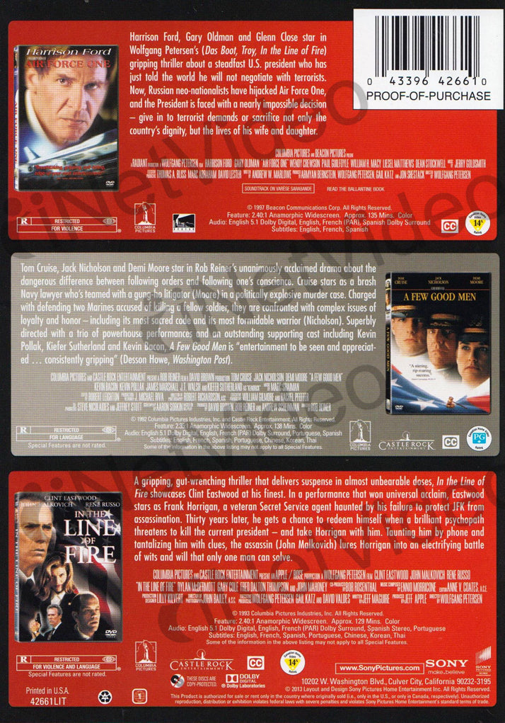 The 3 Movie Leading Men Collection (Air Force One A Few