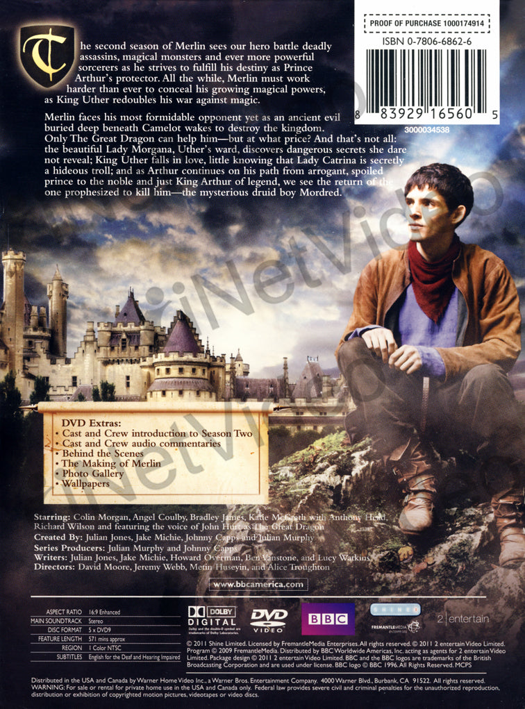 The Adventures Of Merlin - The Complete Season 2 (Boxset) on DVD Movie