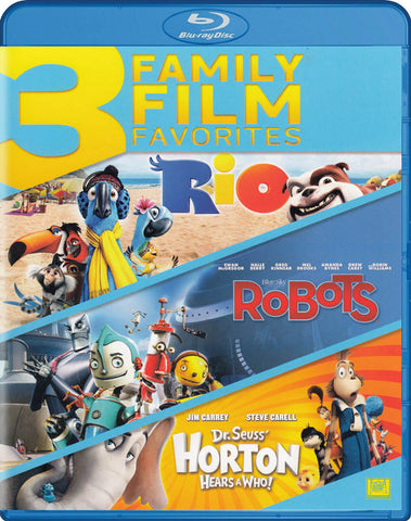Rio / Robots / Dr. Seuss Horton Hears a Who (3 Family Film Favorites) (Blu-ray) BLU-RAY Movie