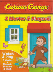 Curious George: 3 Movies & Playset (Boxset)