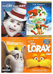 Dr. Seuss Pack (Cat in the Hat / Grinch Stole Christmas / Horton Hears a Who / Lorax) (Bilingual)