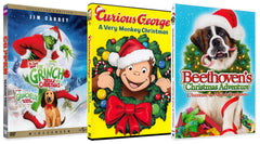Dr. Seuss How the Grinch Stole Christmas/Curious George/Beethoven s Christmas Adventure)(Boxset)