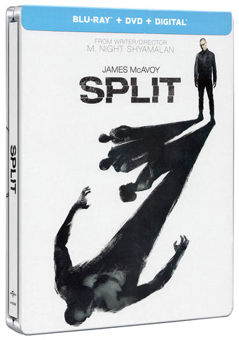 Split (Steelbook) (Blu-ray + DVD + Digital) (Blu-ray) BLU-RAY Movie